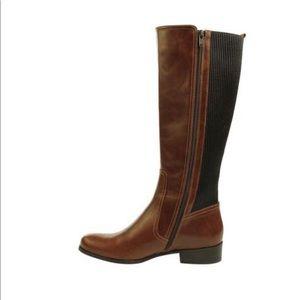 NEVER WORN Vaneli Brown Leather Boot